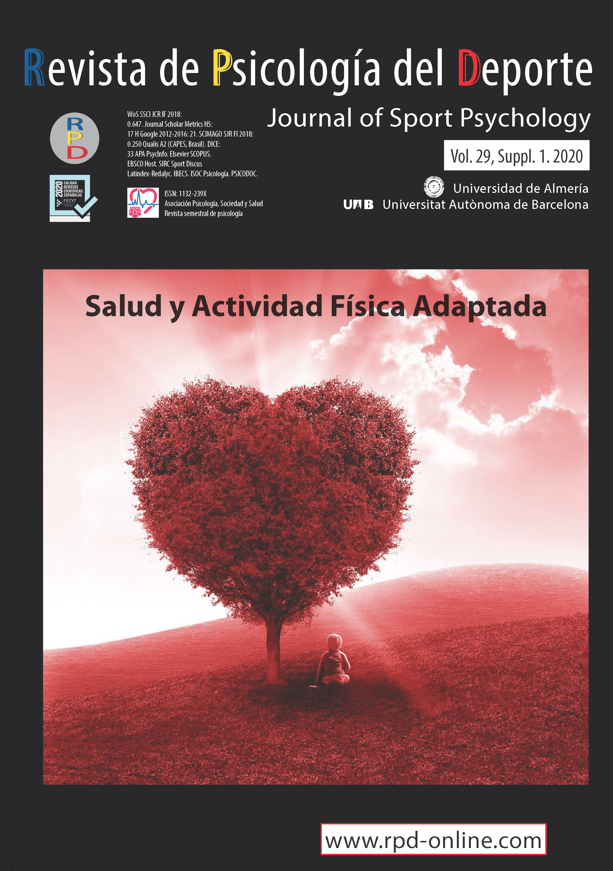 View Vol. 29 No. 3 (2020): Supplement 1: Adapted Physical Activity and Health