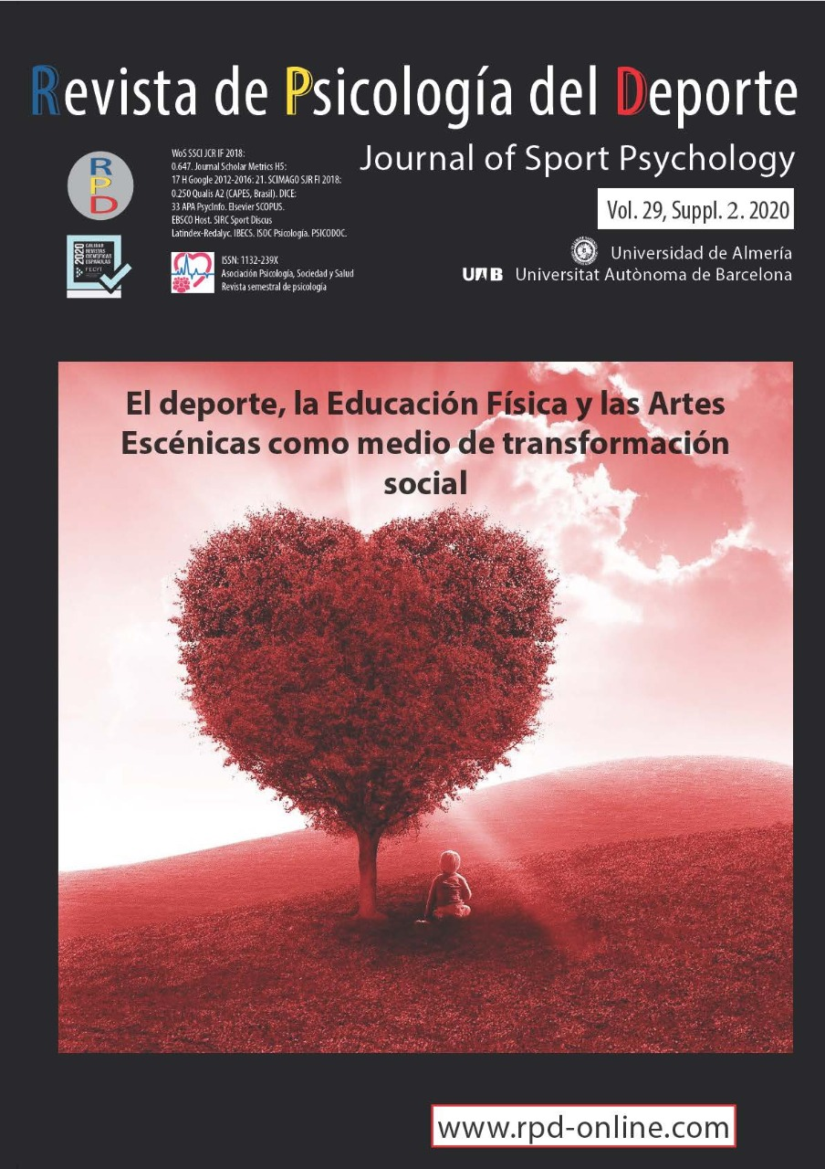 View Vol. 29 No. 5 (2020): Supplement 2-Sport, Physical Education and Performing Arts as tools of social transformation